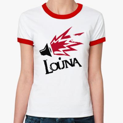 Женская футболка Ringer-T Футболка Ringer-T женская Сделай громче!