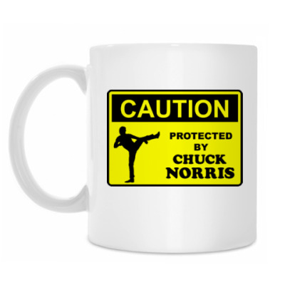 Кружка Protected by Chuck Norris