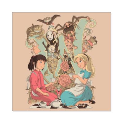Наклейка (стикер) Wonderland Alice and Chihiro