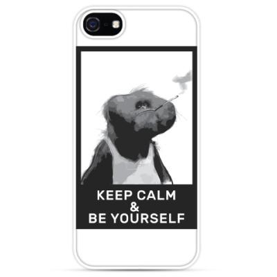 Чехол для iPhone смешная обезьяна (Keep Calm)