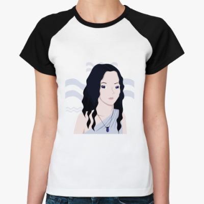 Женская футболка реглан  'Водолей'