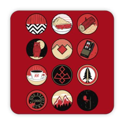 Костер (подставка под кружку) Сериал Твин Пикс Twin Peaks