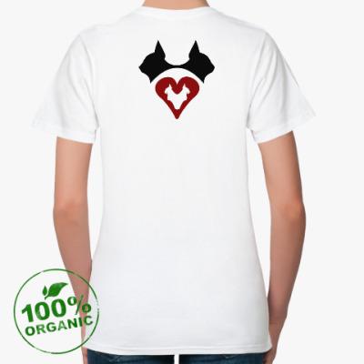 Женская футболка из органик-хлопка Кошачье Сердце