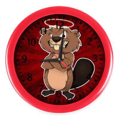 """Настенные часы Часы, красные """"St. Beaver"""""""