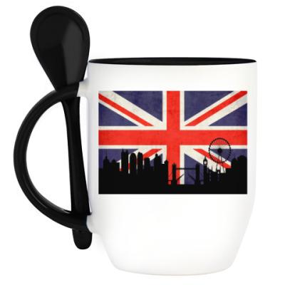 Кружка с ложкой Лондон