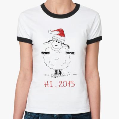 Женская футболка Ringer-T Овца 2015