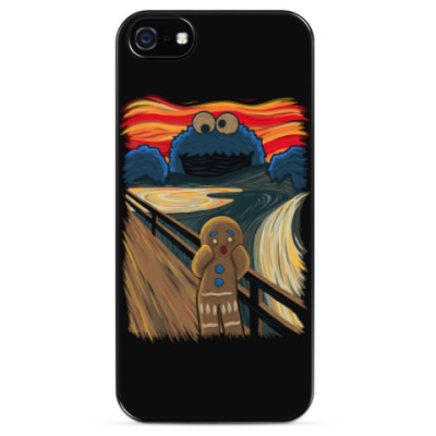 Чехол для iPhone Cookie Monster The Scream