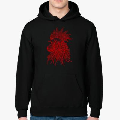 Толстовка худи Красный петух символ Года