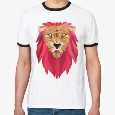 Футболка Ringer-T Лев / Lion