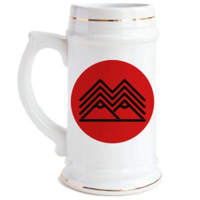 Пивная кружка Символ Твин Пикс Twin Peaks