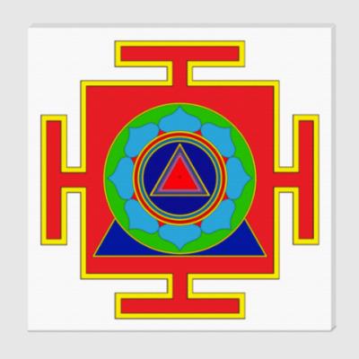 Холст Кали-янтра для медитаций