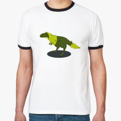 Футболка Ringer-T Скептический тираннозавр