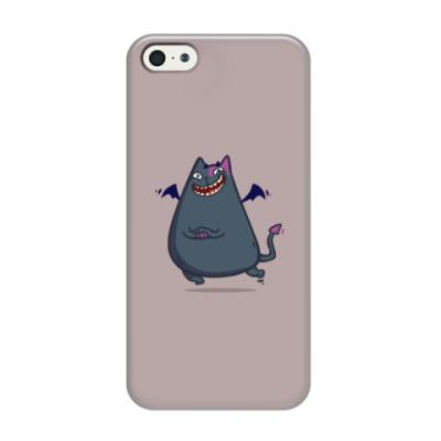 Чехол для iPhone 5/5s Бесокот — Пятничный Котик №43