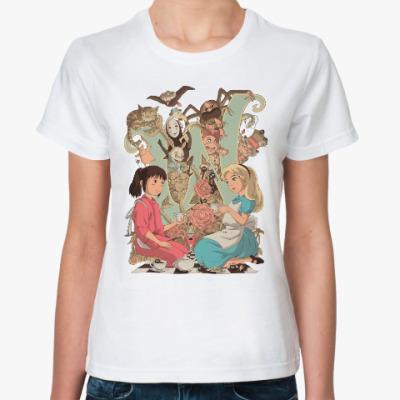 Классическая футболка Wonderland Alice and Chihiro