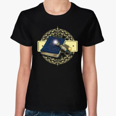 Женская футболка Планета Библиотека