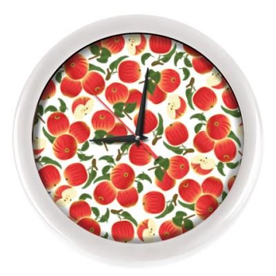 Настенные часы яблочки