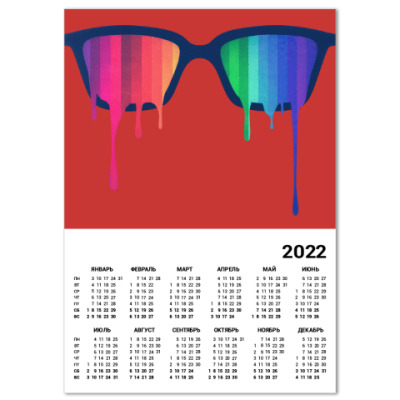Календарь Хипстер: очки