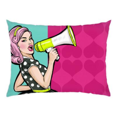 Подушка Pop Art Girl