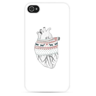Чехол для iPhone Сердце согретое свитером
