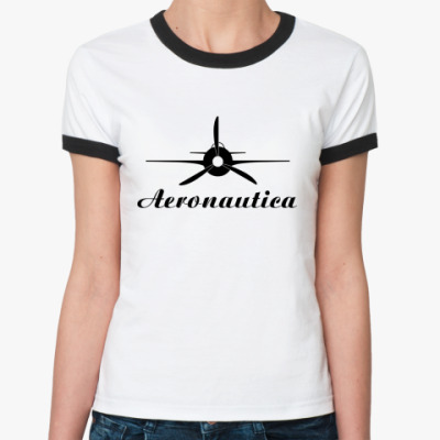 Женская футболка Ringer-T 'Aeronautica'