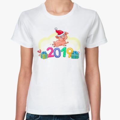 Классическая футболка Год желтой свиньи 2019