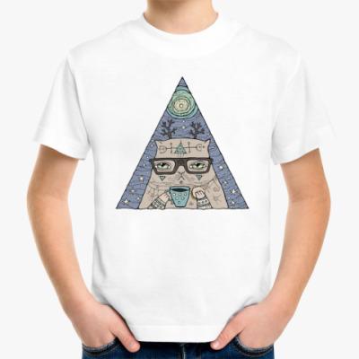 Детская футболка Кот учёный