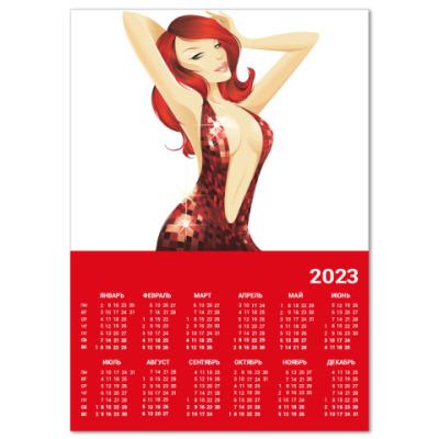 Календарь  A4 Девушка №3*11