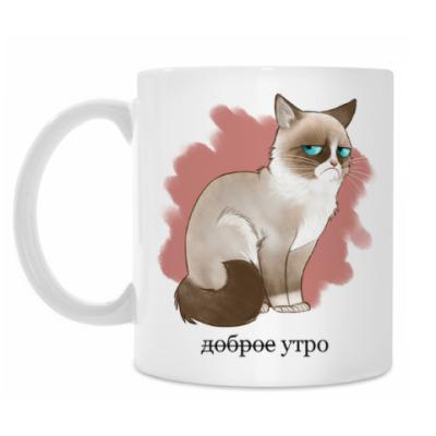 Кружка Grumpy cat - Угрюмый кот