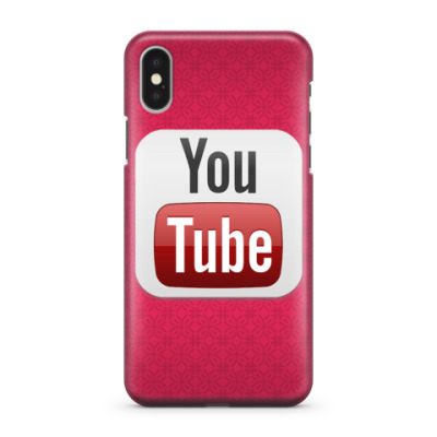 Чехол для iPhone X YouTube