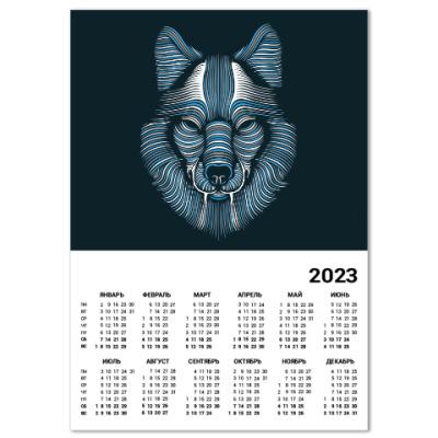 Календарь Волк