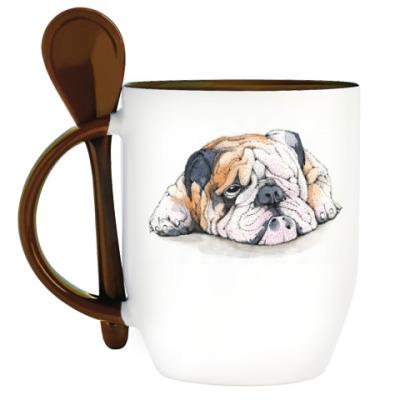 Кружка с ложкой Dog