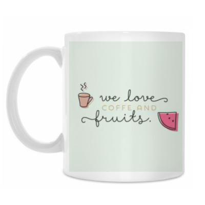 Кружка We love coffee..