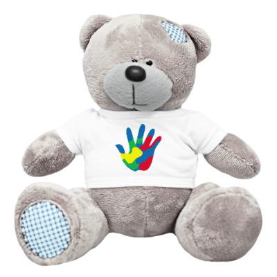 Плюшевый мишка Тедди Отпечаток Руки