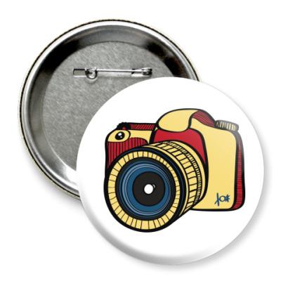 Значок 75мм  Фото (75 мм)
