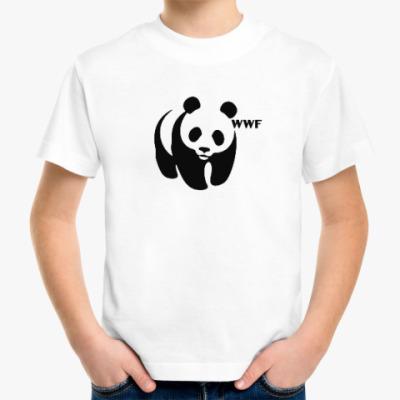 Детская футболка WWF. Панда с лого