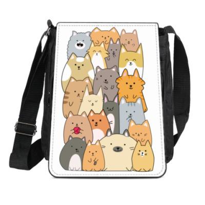 Сумка-планшет Смешные коты (funny cats)