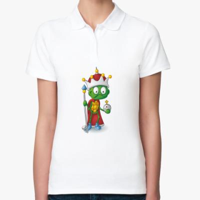 Женская рубашка поло Добрый Черепашонок Король