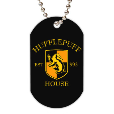 Жетон dog-tag Hufflepuff