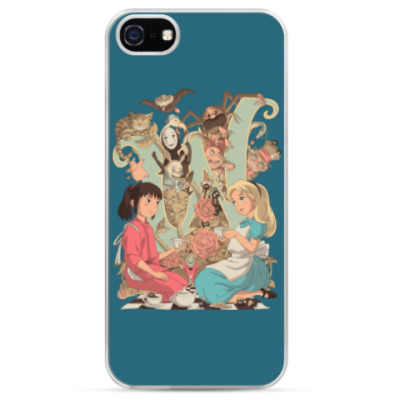 Чехол для iPhone Wonderland Alice and Chihiro