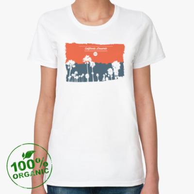 Женская футболка из органик-хлопка Город в Калифрнии (USA)