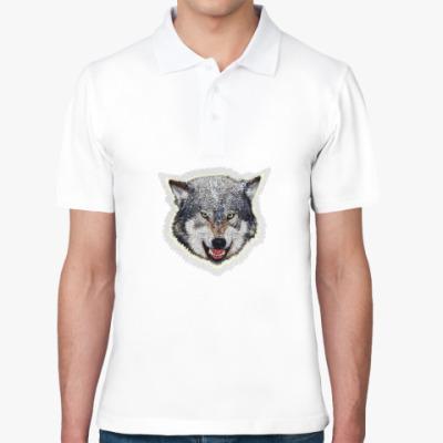 Рубашка поло Волк