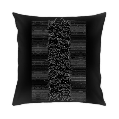 Подушка Cat Division Unknown Pleasures