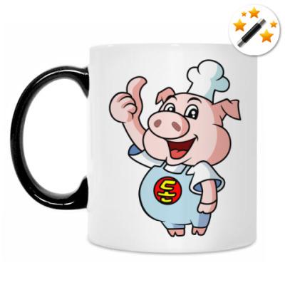 Кружка-хамелеон Pig Chef