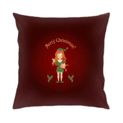 Подушка Рождественский эльф