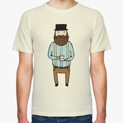 Футболка Джентльмен с чашечкой чая