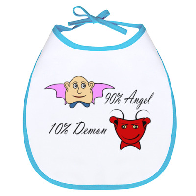 Слюнявчик Ангел и демон
