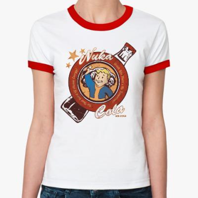 Женская футболка Ringer-T Fallout Nuka Cola Vault Boy