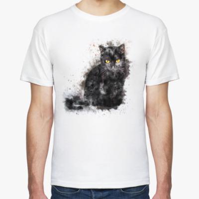 Футболка Жил да был чёрный кот