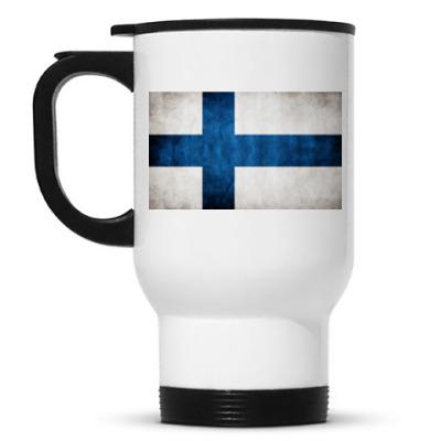 Кружка-термос 'Финский флаг'
