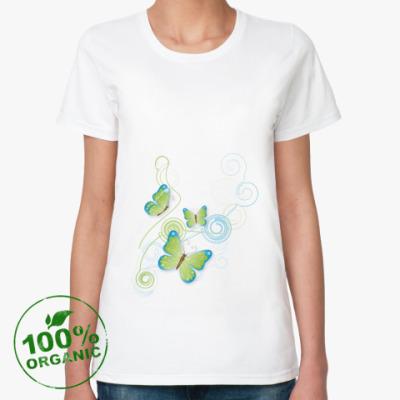 Женская футболка из органик-хлопка Бабочка